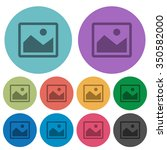 color image flat icon set on...