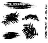vector set of grunge brush... | Shutterstock .eps vector #350582153