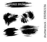 vector set of grunge brush... | Shutterstock .eps vector #350582156