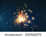 sparklers on a blue background   Shutterstock . vector #350582870