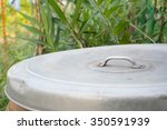glazed water jar cover with... | Shutterstock . vector #350591939
