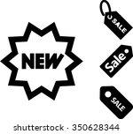 shopping sale icons set | Shutterstock .eps vector #350628344