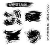 vector set of grunge brush... | Shutterstock .eps vector #350629730