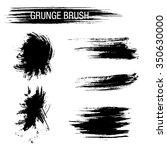 vector set of grunge brush... | Shutterstock .eps vector #350630000