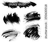 vector set of grunge brush...   Shutterstock .eps vector #350630018