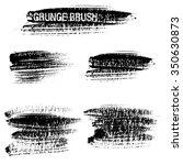 vector set of grunge brush... | Shutterstock .eps vector #350630873