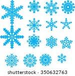 snowflakes vector.  | Shutterstock .eps vector #350632763