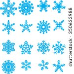 collection of vector snowflakes ... | Shutterstock .eps vector #350632988