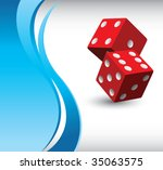 red dice on vertical wave...   Shutterstock .eps vector #35063575