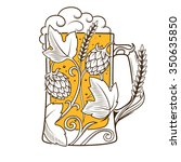 beer mug abstract ornament... | Shutterstock .eps vector #350635850