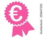 euro warranty seal vector icon. ...   Shutterstock .eps vector #350647250