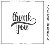 thank you. the phrase handmade. ... | Shutterstock .eps vector #350649149