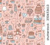 happy birthday pattern | Shutterstock .eps vector #350653613
