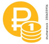 rouble coins vector icon. style ... | Shutterstock .eps vector #350655956