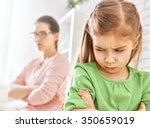 mother and her daughter... | Shutterstock . vector #350659019