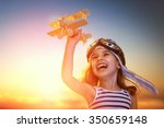 dreams of flight  child playing ... | Shutterstock . vector #350659148