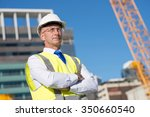 confident construction engineer ... | Shutterstock . vector #350660540