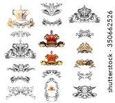 crown vector  decorative... | Shutterstock .eps vector #350662526