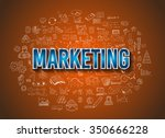marketing business concept with ... | Shutterstock .eps vector #350666228