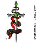 snake and dagger | Shutterstock .eps vector #350671994