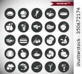 set of twenty five food icons | Shutterstock .eps vector #350672174