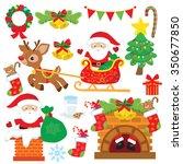 santa vector illustration | Shutterstock .eps vector #350677850