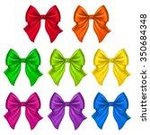 set of silk bow. vector... | Shutterstock .eps vector #350684348