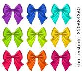 set of silk bow. vector... | Shutterstock .eps vector #350684360