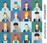 set of avatar icons. profession ... | Shutterstock .eps vector #350688389