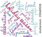 holiday season word cloud on a... | Shutterstock .eps vector #350689028
