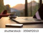 nomad work concept image... | Shutterstock . vector #350692013