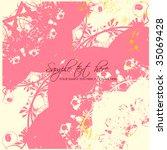 vector flower background | Shutterstock .eps vector #35069428