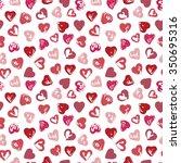 grunge hearts seamless pattern. ... | Shutterstock .eps vector #350695316