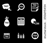 vector white tax icon set.  | Shutterstock .eps vector #350695454