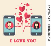 valentine's day card with man...   Shutterstock .eps vector #350701529