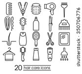 hair care icons collection | Shutterstock .eps vector #350706776