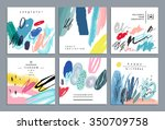 set of artistic creative... | Shutterstock .eps vector #350709758