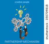 partnership idea mechanism flat ... | Shutterstock .eps vector #350709818
