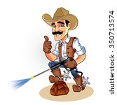 illustration of a cowboy  with... | Shutterstock .eps vector #350713574