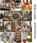 collage christmas card. new... | Shutterstock . vector #350717858