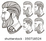 men with beard | Shutterstock .eps vector #350718524