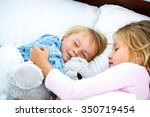 photo of little girl and boy... | Shutterstock . vector #350719454