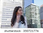 young latin professional woman... | Shutterstock . vector #350721776