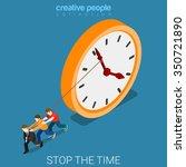 stop slowdown the time drudge... | Shutterstock .eps vector #350721890