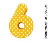 3d Polka Dots Number 6 Six...