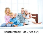 photo of young family of four... | Shutterstock . vector #350725514