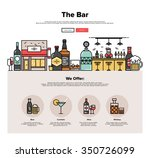 one page web design template... | Shutterstock .eps vector #350726099