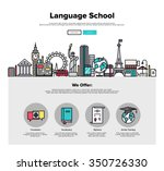 one page web design template... | Shutterstock .eps vector #350726330