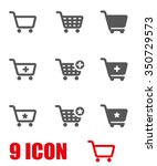 vector grey shopping cart icon... | Shutterstock .eps vector #350729573