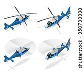 helicopter isometric icon. air... | Shutterstock .eps vector #350733338
